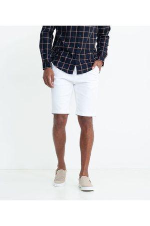 Marfinno Homem Bermuda - Bermuda Sarja Lisa com Textura | | | 42