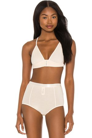Free People Snaps Snaps Bra in Cream. - size L (also in M, S, XS)