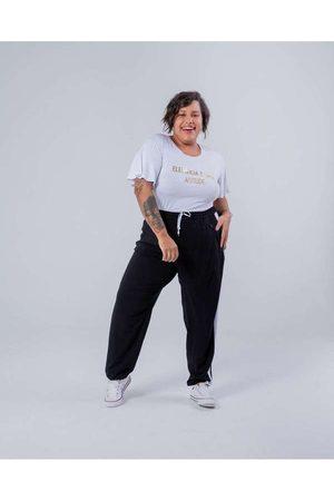 Miss Taylor Mulher Calça Jogger - Calça Jogger Almaria Plus Size Faixa L