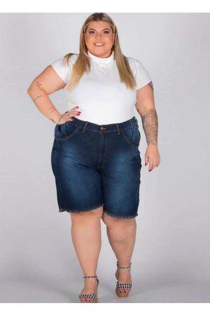 Shyros Mulher Bermuda - Bermuda Oversize Almaria Plus Size Jeans Az