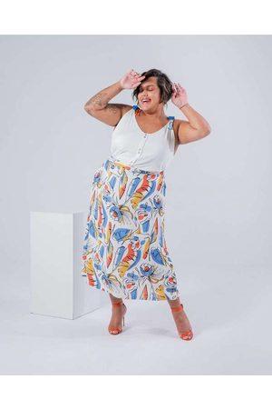 Miss Taylor Saia Midi Almaria Plus Size Estampada