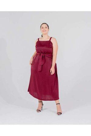 Miss Taylor Vestido Midi Almaria Plus Size Faixa E