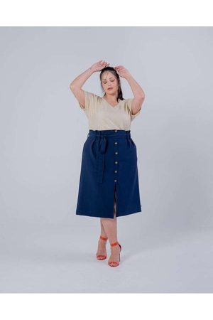 Miss Taylor Mulher Saia Midi - Saia Clochard Almaria Plus Size Midi A