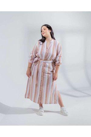 Miss Taylor Mulher Vestidos - Vestido Chemise Almaria Plus Size List