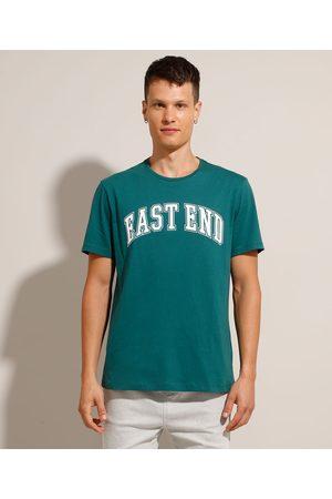 """Clockhouse Camiseta de Algodão East End"""" Manga Curta Gola Careca """""""