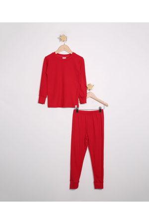 Palomino Pijama Infantil Canelado Manga Longa