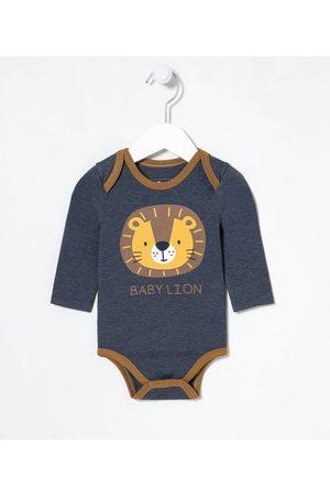 Teddy Boom (0 a 18 meses) Criança Body - Body Infantil Estampa Cara de Leão - Tam 0 a 18 meses       6-9M