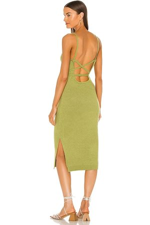 LINE & DOT Mulher Vestidos - Megan Wrap Dress in Green. - size M (also in S)