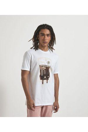 Blue Steel Camiseta Manga Curta com Estampa Café | | | P