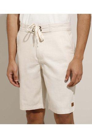 Suncoast Homem Bermuda - Bermuda Masculina Reta com Cordão e Bolsos Claro