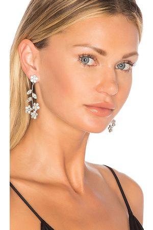 Jennifer Behr Mulher Brincos - Violet Dangle Earrings in Metallic Silver.
