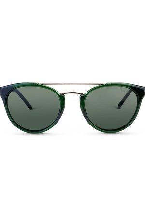 Vivara Óculos de Sol - Óculos de Sol Redondo em Aço e Acetato Verde