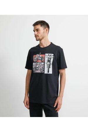 Marfinno Camiseta Comfort com Estampa Moto | | | M