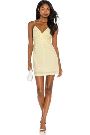 Song of Style Sully Mini Dress in Yellow. - size L (also in M, S, XL, XS, XXS)