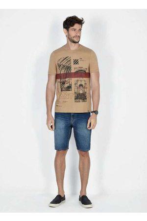 Dimy Homem Camisolas de Manga Curta - T-Shirt Estampa Frontal Tsh61407