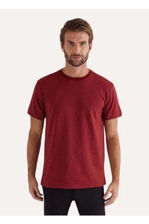 Reserva Homem Camisolas de Manga Curta - Camiseta Pois Maquinetado