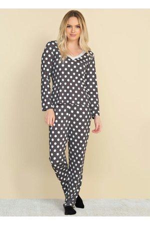 Doce Trama Mulher Pijamas - Pijama com Calça em Microfibra