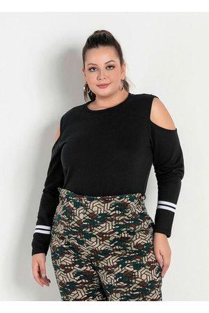 Marguerite Mulher Casacos - Casaco com Ombros Vazados Plus Size