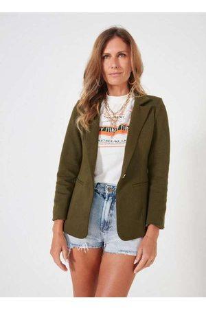 Dimy Mulher Blazer - Blazer em Moletinho com Bolsos Embutidos Ver