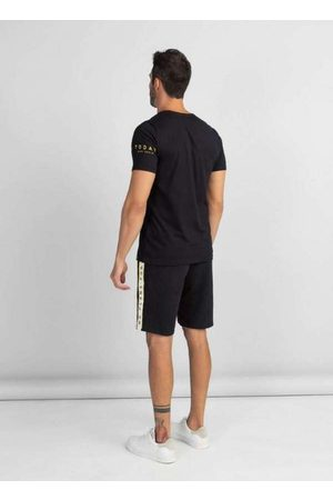 Dimy Homem Camisolas de Manga Curta - T-Shirt Estampa Frontal Tsh61607