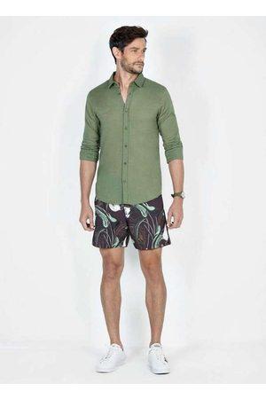 Dimy Homem Short - Beach Shorts Estampado Azul Sho61581