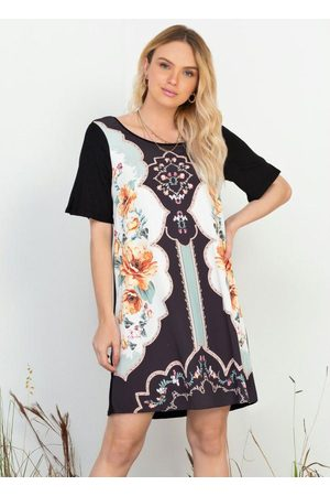 Doce Trama Mulher Vestidos - Vestido Curto em Ribana