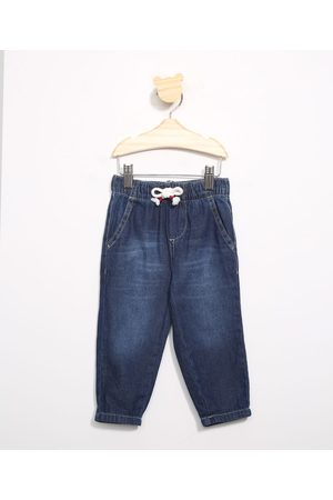 Baby Club Calça Infantil Jogger Jeans com Cordão Escuro