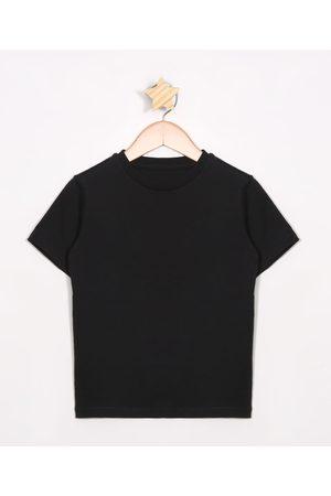 Palomino Camiseta Infantil Básica Manga Curta Preta