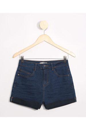 Fifteen Short Juvenil Jeans com Franzido Claro