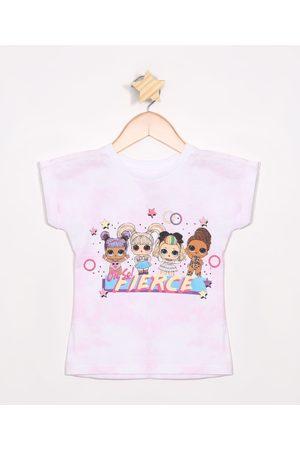 L.O.L. Surprise Blusa Infantil Estampada Tie Dye Manga Curta Rosa