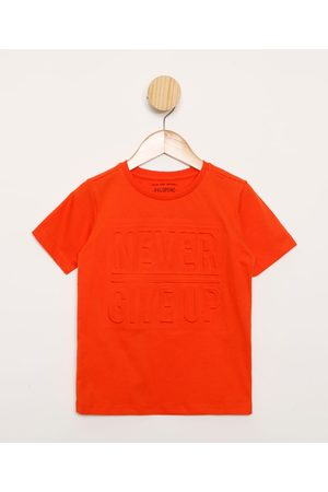 """PALOMINO Camiseta Infantil Never Give Up"""" Manga Curta """""""