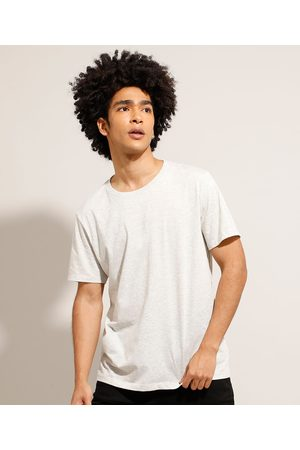 Basics Camiseta Básica Manga Curta Gola Careca Off White