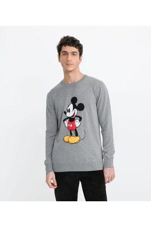 Mickey Mouse Homem Cardigã - Suéter em Tricô Mickey Vintage | | | G