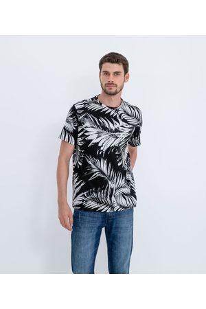 Marfinno Camiseta Manga Curta Estampa Folhagens em Algodão Peruano       GG