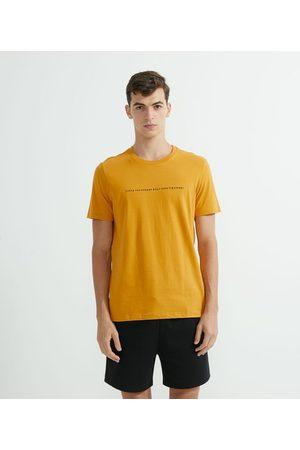 Request Homem Camisolas de Manga Curta - Camiseta Manga Curta em Algodão Estampada | | | GG