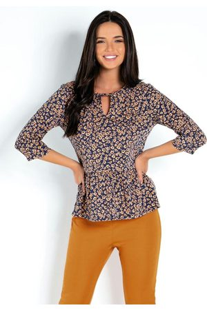 QUEIMA ESTOQUE Mulher Blusa - Blusa Modelo Peplum Floral