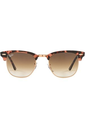 Ray-Ban Clubmaster Sunglasses in Pink.