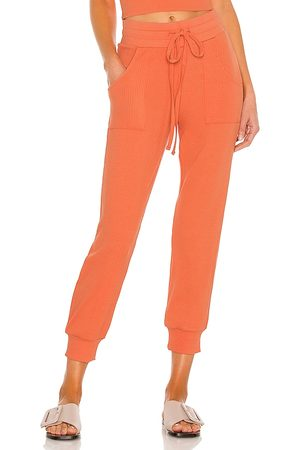 THE RANGE Ribbed Jogger in Peach. - size L (also in M, S, XS)