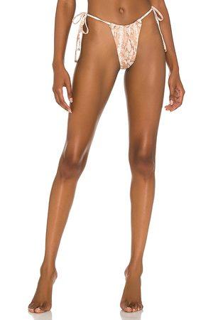 Vitamin A Milana Bikini Bottom in Tan. - size L (also in M, S, XS)