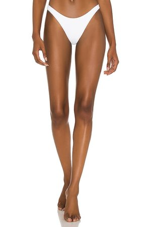 vitamin A California High-Leg Bikini Bottom in White. - size L (also in M, S, XS)
