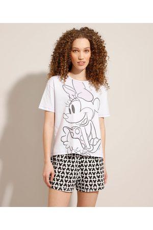 Disney Mulher Pijamas - Pijama Manga Curta Minnie e Mickey