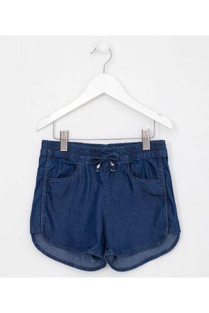 Fuzarka Short Infantil Runner em Jeans - Tam 5 a 14 anos       5-6