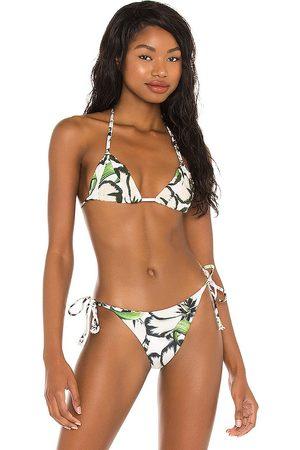 Agua Bendita Caliope Bikini Top in White. - size L (also in M, S)