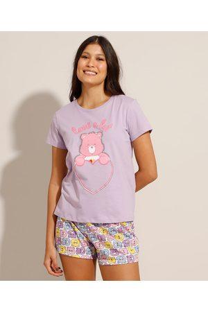 Ursinhos Carinhosos Mulher Pijamas - Pijama Manga Curta Lilás
