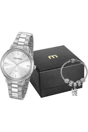Mondaine Mulher Pulseiras - Kit Relógio Feminino Analógico 53761L0MKNE3K1 + Pulseira