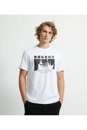 Blue Steel Homem Camisolas de Manga Curta - Camiseta Manga Curta Meia Malha Estampa Olhar Mangá | | | P