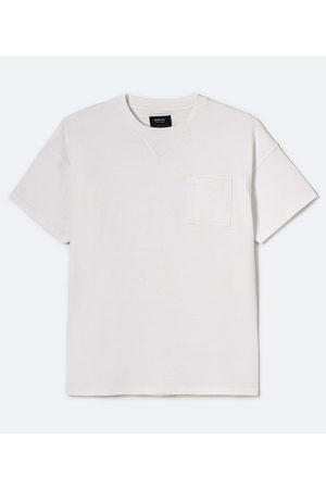 Blue Steel Camiseta Manga Curta Lisa com Bolso | | | PP