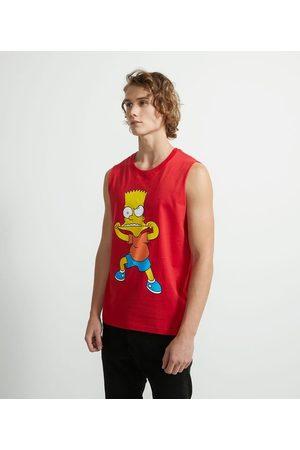Simpsons Homem Camisolas tipo Regata - Regata em Algodão Estampa Bart Simpson | | | GG