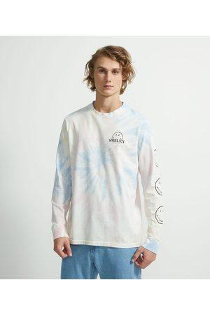 SMILEY® Camiseta Manga Longa em Algodão Tie Dye com Estampa Smiley | | | GG