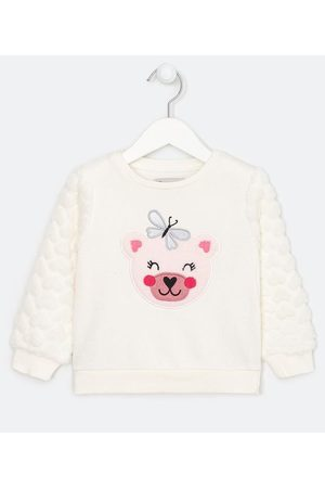 Póim (1 a 5 anos) Criança Casacos - Blusão Infantil com Bordado de Ursa - Tam 1 a 5 anos       04